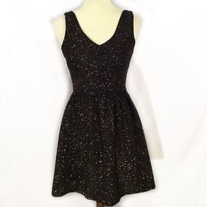 💕Love...ady Black Sparkle sleeveless party dress